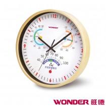 WONDER旺德 舒適度顯示鋁框掛鐘 WD-6404