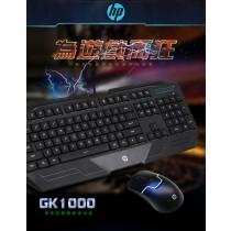 HP有線電競鍵鼠組 GK1000